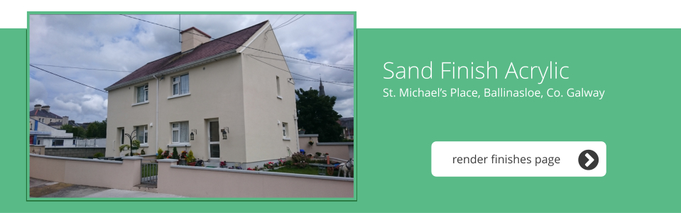St. Michael's Place, Ballinsloe, Co. Galway - Sand Finish Acrylic
