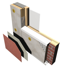 An image showing the structure of the impact resistant insulation system