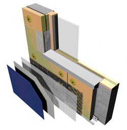 An image showing the structure of the lightweight insulation system